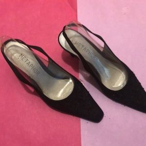 Metaphor black fabric shoes